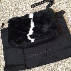 Kendall + Kylie faux fur bag